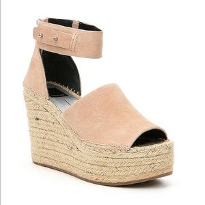 New Dolce Vita Peep-Toe Espadrille Wedge Sandals